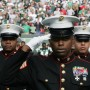 Marines salute during National Anthem in New York PHOTO: Marine Corps New York/flickr